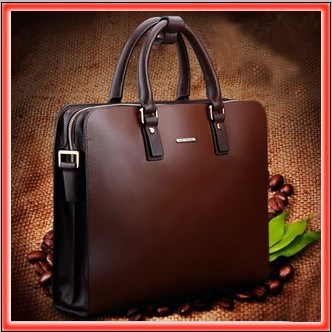 2013 New Men's Low-Profile Luxury Genuine Italian Leather Tote Handbag