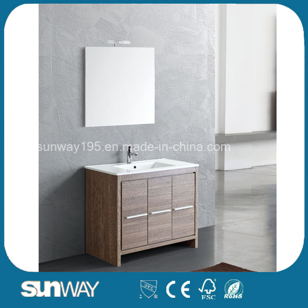 Hot Sale Melamine Bathroom Furniture with Mirror Cabinet (SW-ML1307)
