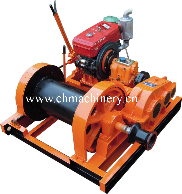 10ton Diesel Engine Anchor Winch for Marine Use Witch Brake and Clutch