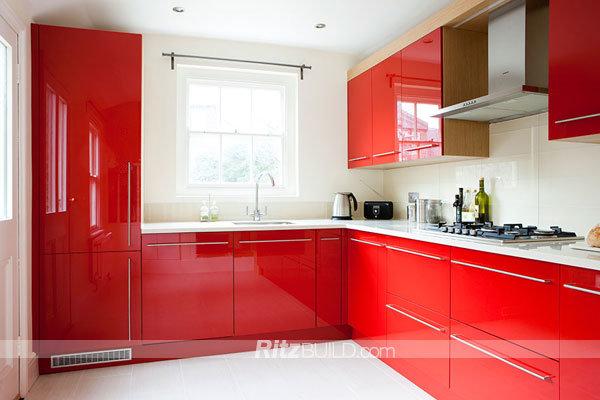 China fashion kitchen cabinet high gloss kitchen cabinet - Sofas de cocina ...
