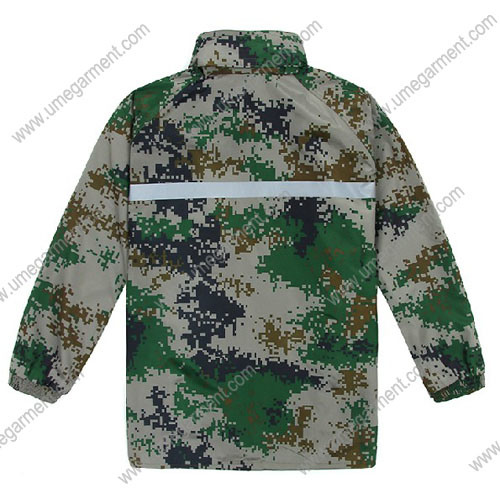Men's Raincoat Suit with Nylon Fabric Printed Camouflage Urs01