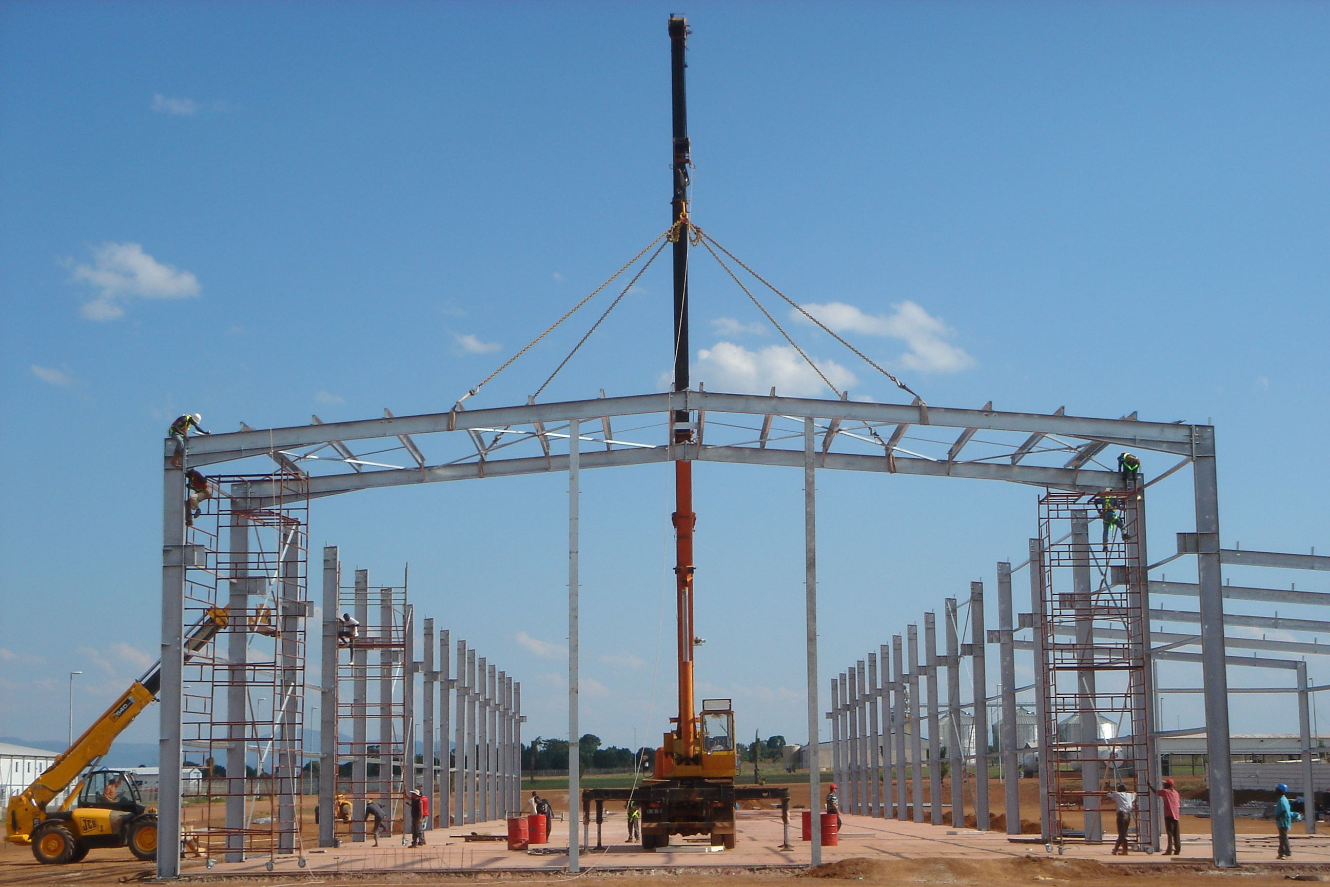 South African Steel Structure Warehouse Construction