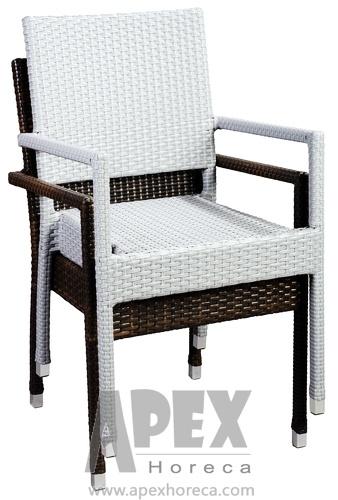 Garden Furniture Bistro Furniture Rattan Furniture Wicker Chair (AS1043AR)