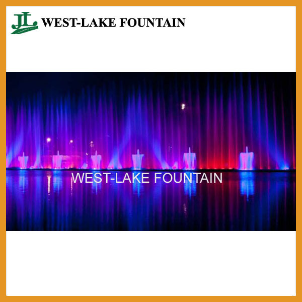 Water Curtain Laser Projection Musical Dancing Fountain in Ukraine