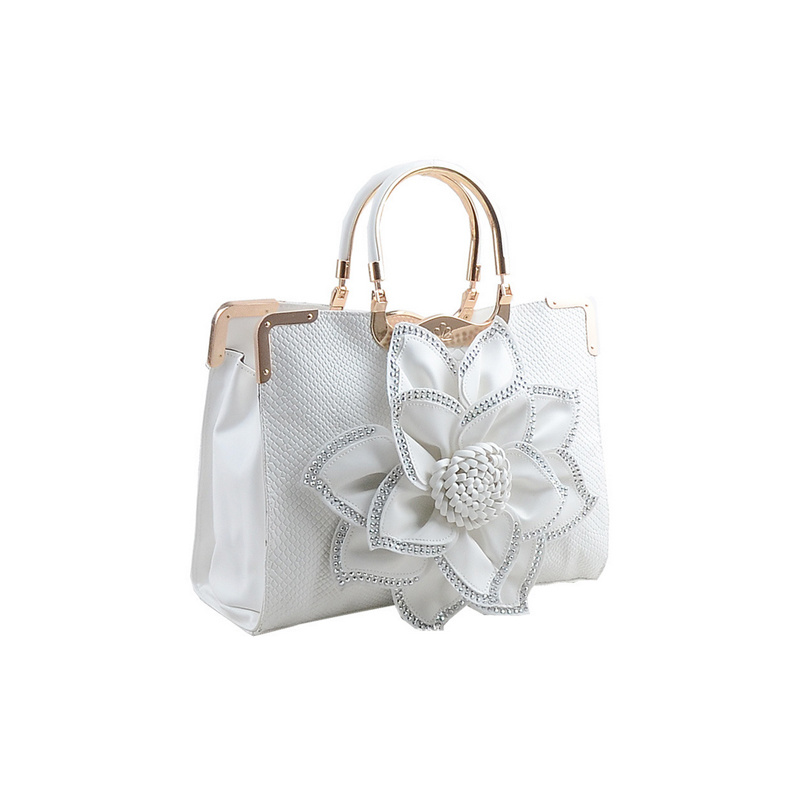 Beautiful Flower Handbags with Custom Printed