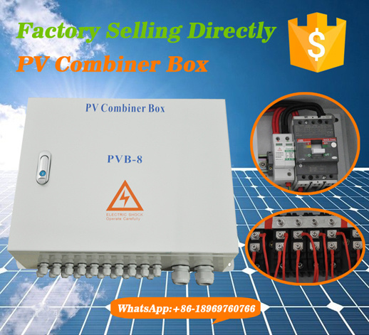 IP65 Outdoor Wall-Mounted PV Combiner Box with 18 Channels Input