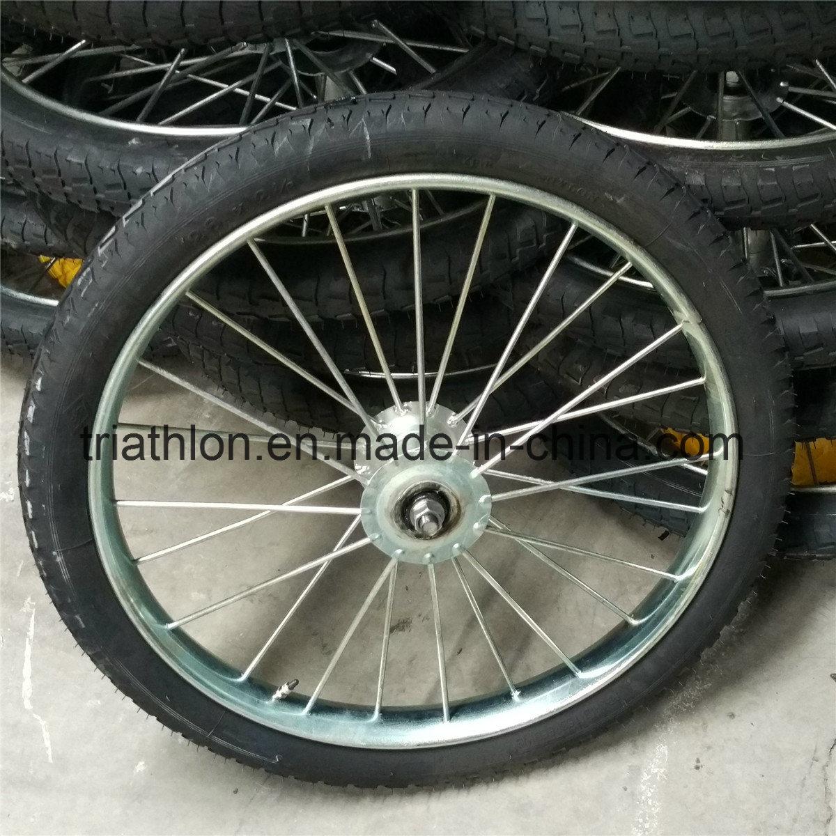 26X2.125 26X2 Flat Free PU Foam Solid Tire with Spoked Steel Rim