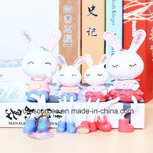 Resin Rabbit Design-Desktop Decoration Craft (PG14001)