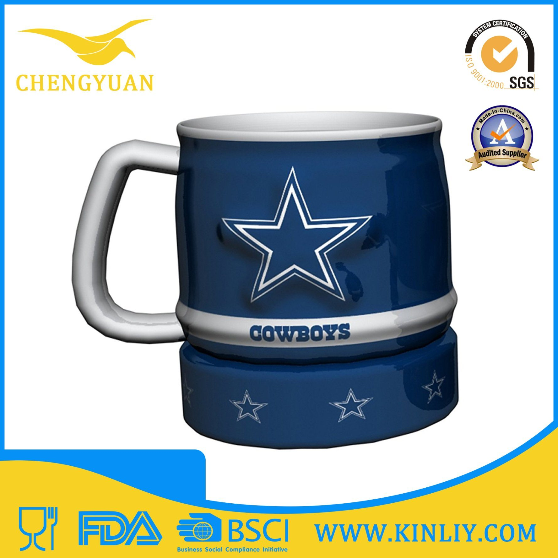 Hot Sale Mighty Ceramic NFL Tea Cup Coffee Mug with Cheap