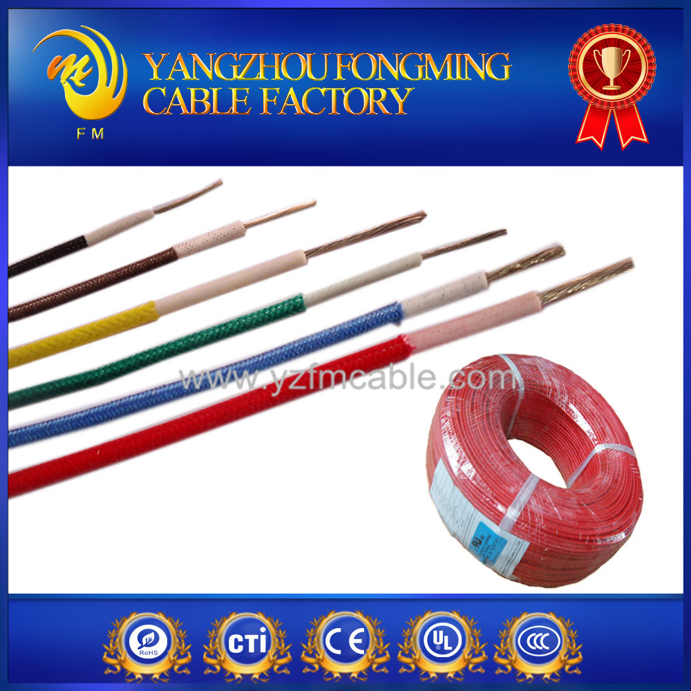 200deg. C Silicone Insulated Fiberglass Braided Agrp Electrical Cable