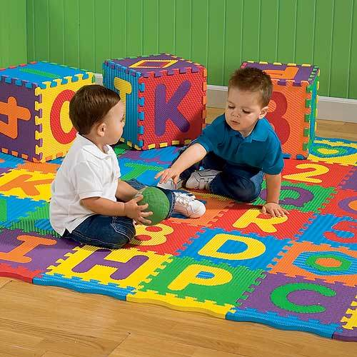 Cartoon Design Pattern Baby Puzzle Mat Playing Soft Foam Material EVA Puzzle Mat Interlockin
