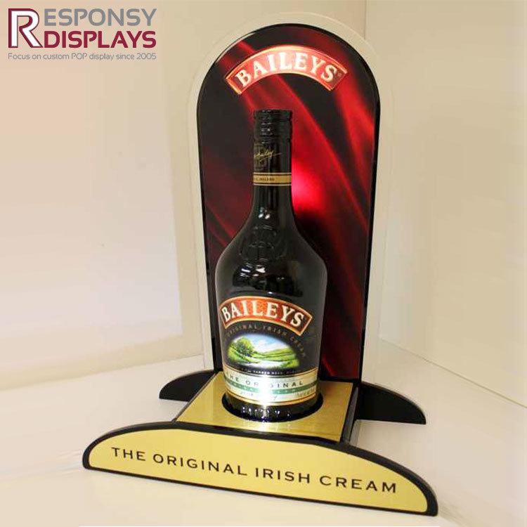 Acrylic Counter Custom Glorifier Display with Back Board for Wine
