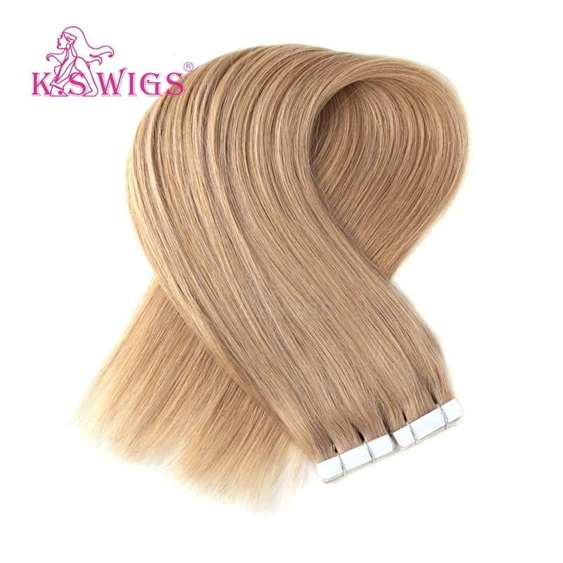 K. S Wigs High-End Quality Remy Tape Hair