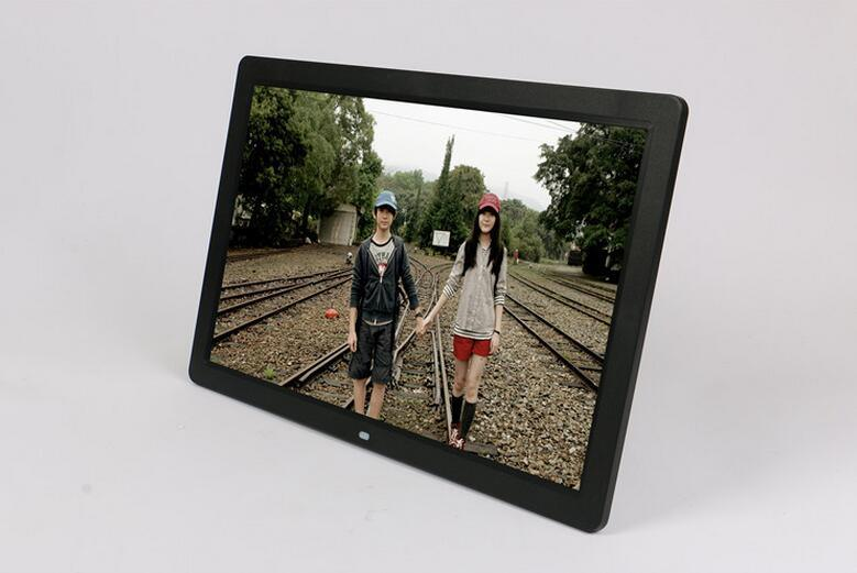 17 Inch LCD Screen Digital Photo Frame with Human Sensor Suitable for Shop Advertising Display