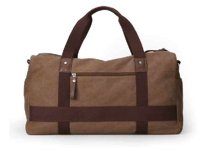 Durable and Fashionable Canvas Tote and Shoulder Travel Duffel Bag (MS2126)