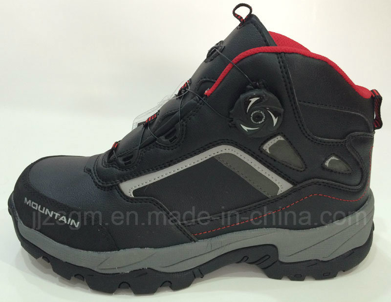 New Design, High-Top Steel Toe Fashion Work & Safety Boots, Auto Buckle