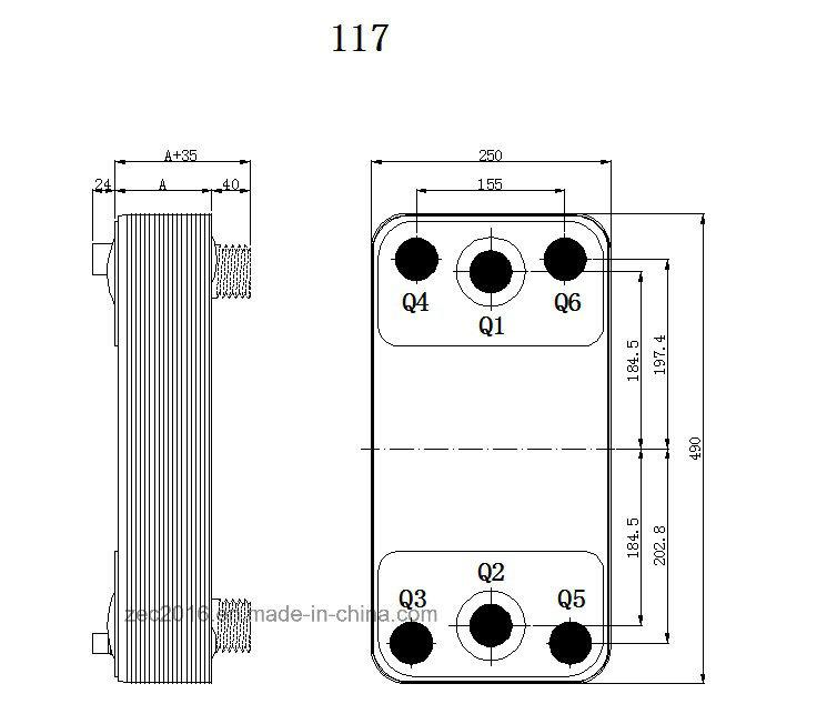 Brazed Heat Exchanger, Ce, ISO9001: 2000