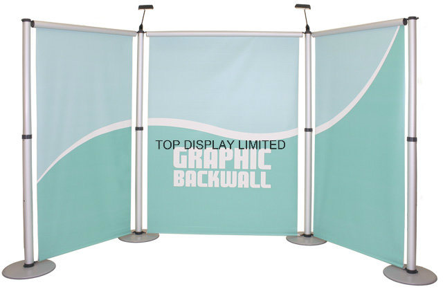 China Trade Show Fabric Display Banner Vinyl Mesh Booth Exhibition Booth Equipment