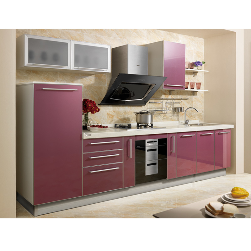 China oppein furniture popular laminate kitchen cabinet for Laminate kitchen cabinets