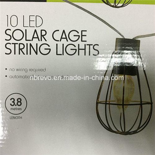 Solar Powered LED Vintage Cage Garden Light (RS1007)