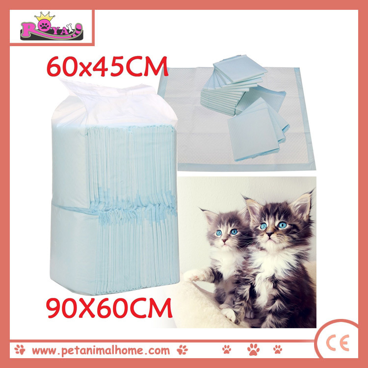 High Quality Blue Cat PEE Pads in Clear PE Bag Packing