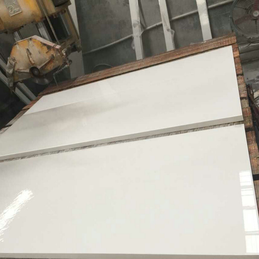 Pure White Quartz Stone Countertop Slabs