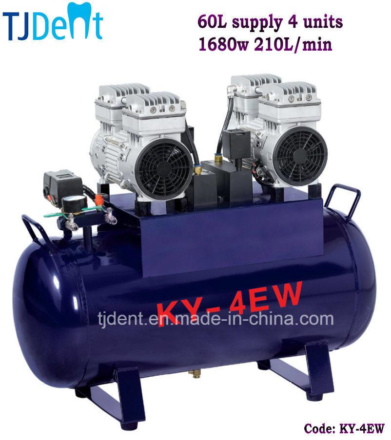 Ce Noiseless 60L Supply Four Units Dental Air Compressor