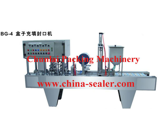 Automatic Tray Filling Sealing Machine