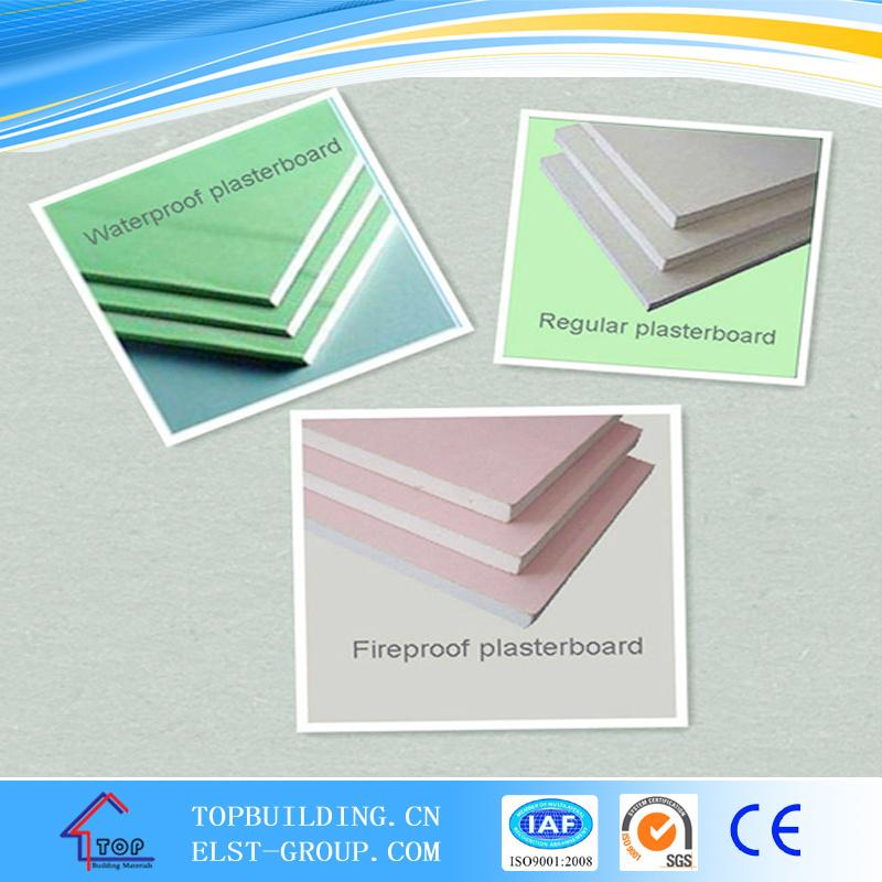 Moistureproof Plasterboard/Waterproof Gypsum Board 1200*2500*12.5mm