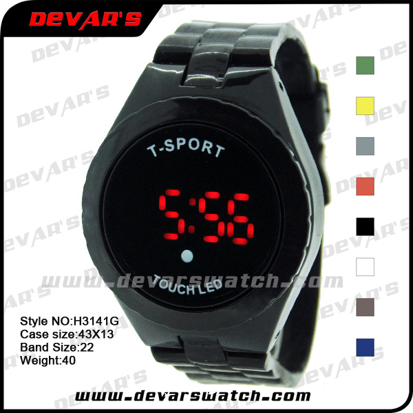 digital led touch screen watches for sports h3141g