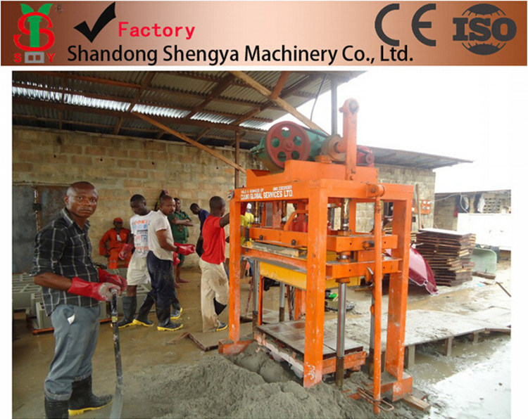 Qtj4-40 Construction Machinery Concrete Block Making Machinery