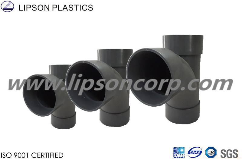 UPVC Pipes Branch Tee Fittings Plastic Pipe Fitting