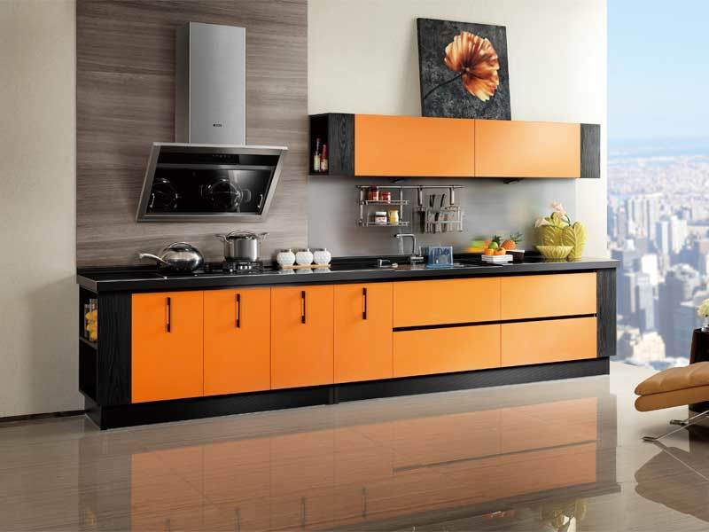 China Oppein Colorful Kitchen Cabinet With Laminate Doors OP12 L053
