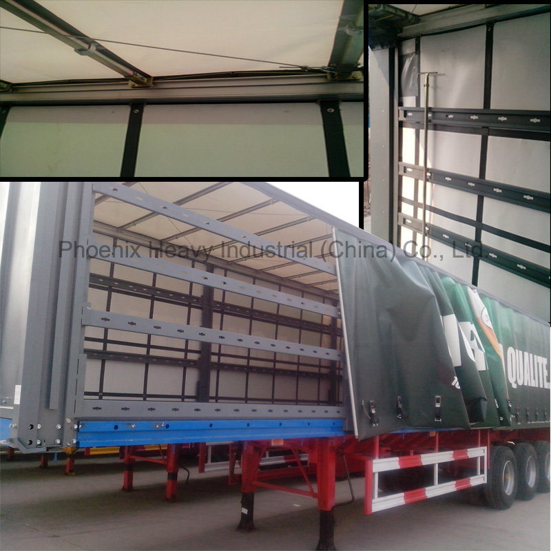 40ft 50tons 3 Axle Curtain Utility Trailer with BPW Axle