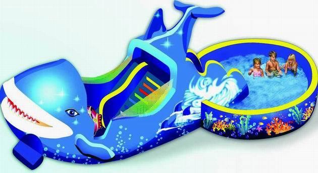glissi re gonflable de dauphin avec une piscine lbw 955 glissi re gonflable de dauphin avec. Black Bedroom Furniture Sets. Home Design Ideas