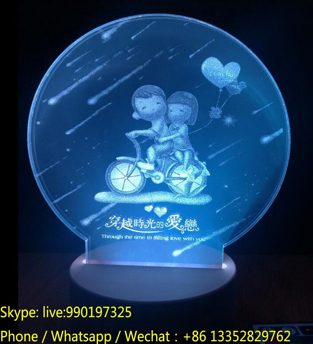 LED Acrylic Creative Night Light for Valentine′s Day Gift