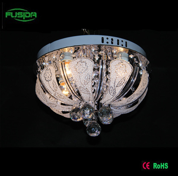 Round LED Crystal Ceiling Lamp LED Ceiling Light