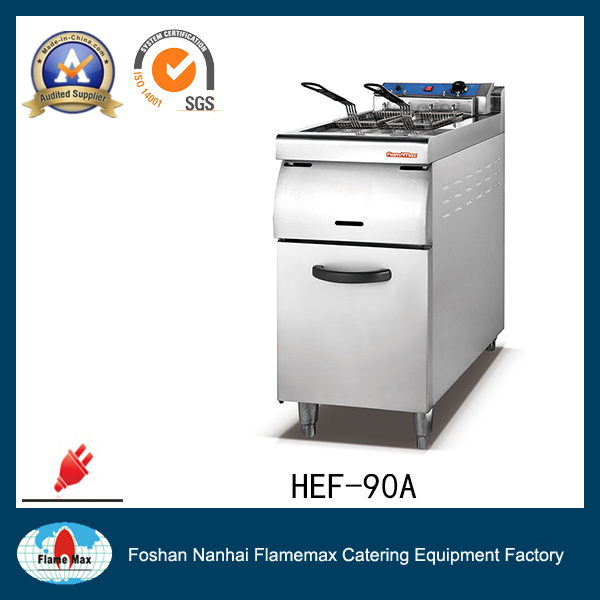 Single Tank China Gas/ Electric Fryer with Cabinet (HEF-90A)