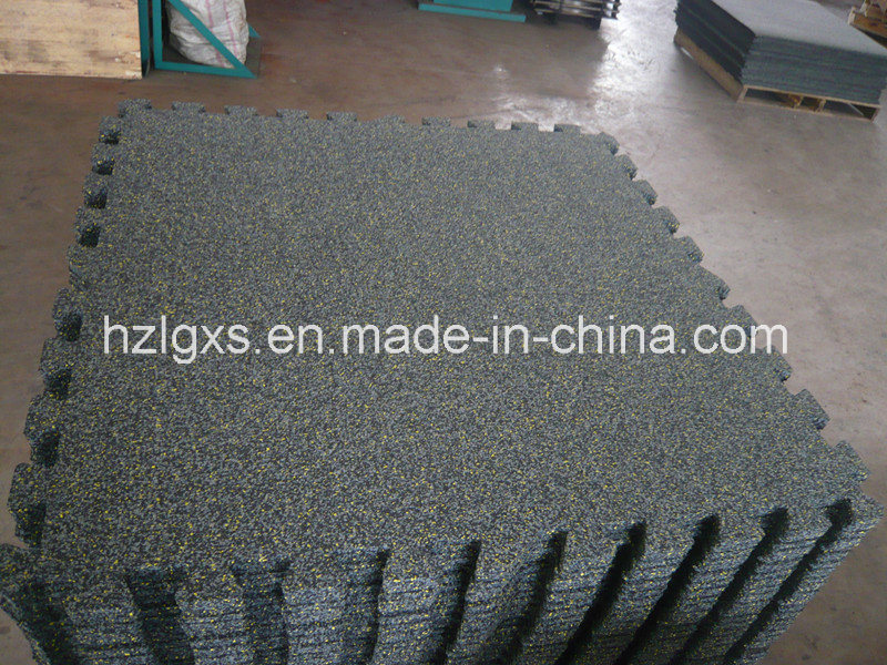EPDM Granules Dots Interlocking Rubber Mats Rubber Flooring
