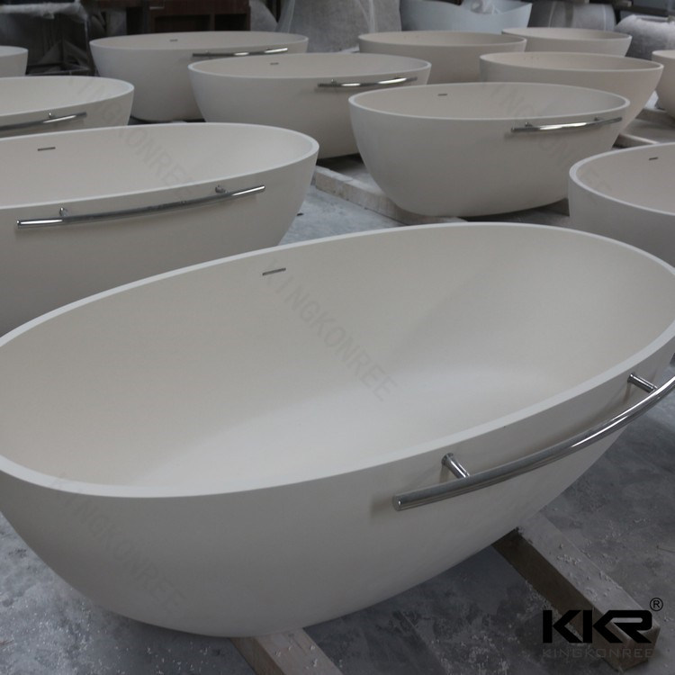 Solid Surface Bathtub for Old People and Disabled People