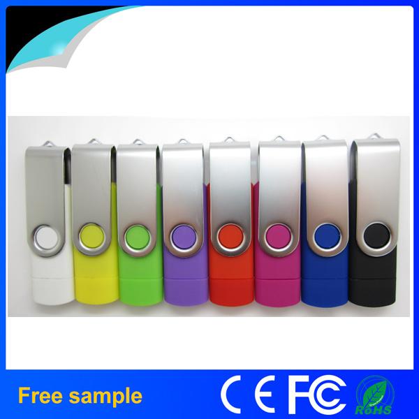 Free Sample 8GB Flash Drive Swivel OTG USB