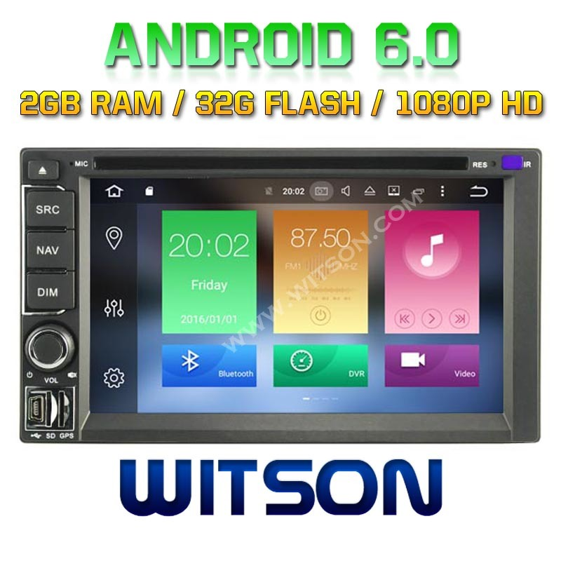 Witson Octa-Core (Eight Core) Android 6.0 Car DVD for Universal Double DIN 2g ROM 1080P Touch Screen 32GB ROM