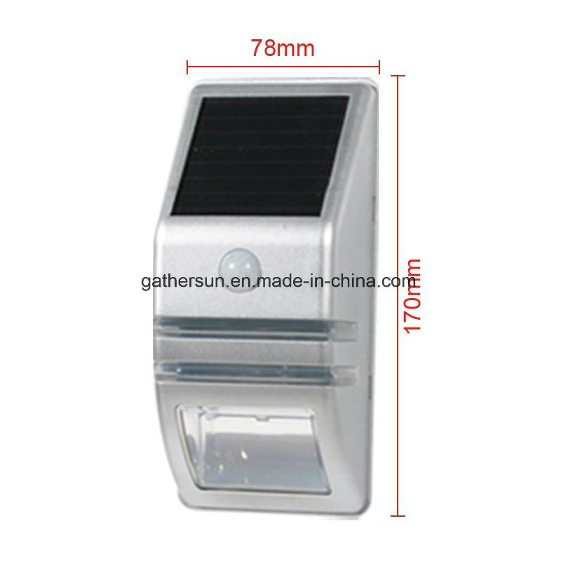 LED Solar PIR Sensor Light Outdoor for Garden Fence Light