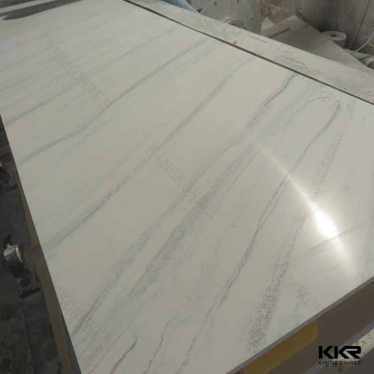 Manufacturer 12mm Pure White Artificial Stone Acrylic Solid Surface