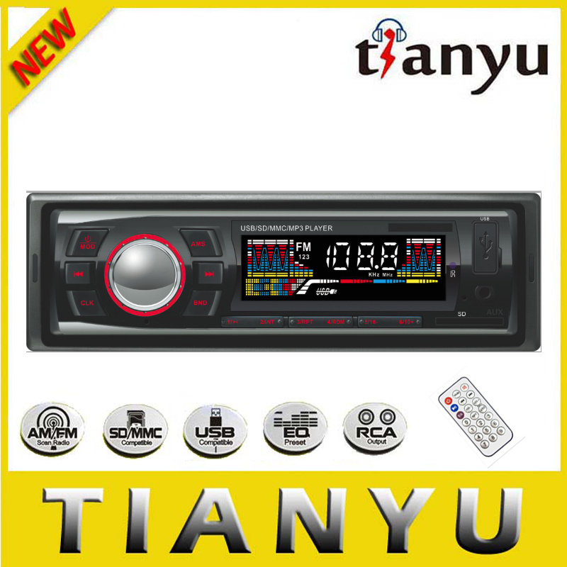 Fixed Panel Car FM Radio with LCD Screen 6249