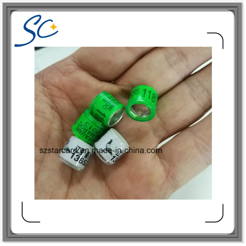 Printing Number Plastic Pigeon Ring for Bird Use