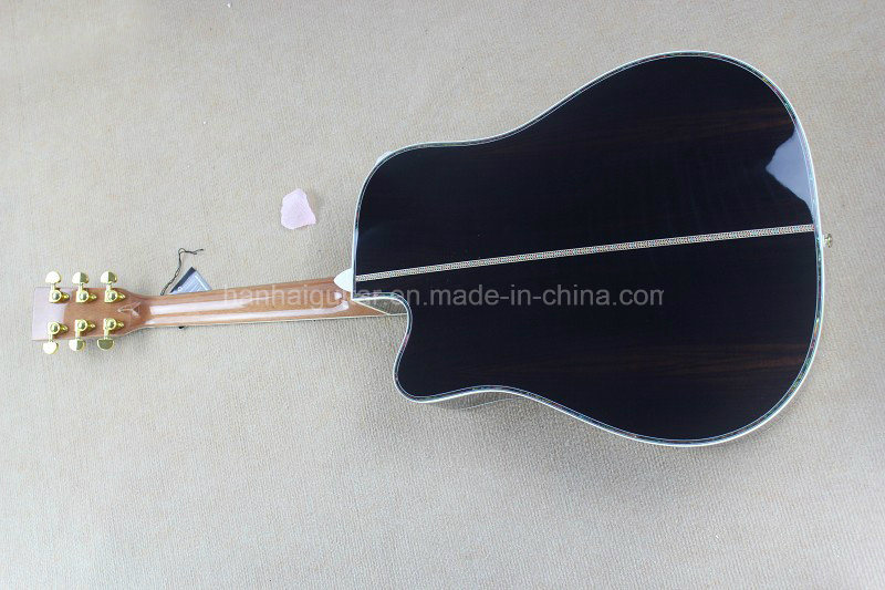 Hanhai Music/41′′ Acoustic Guitar with Flower Frets Inlay (D45)