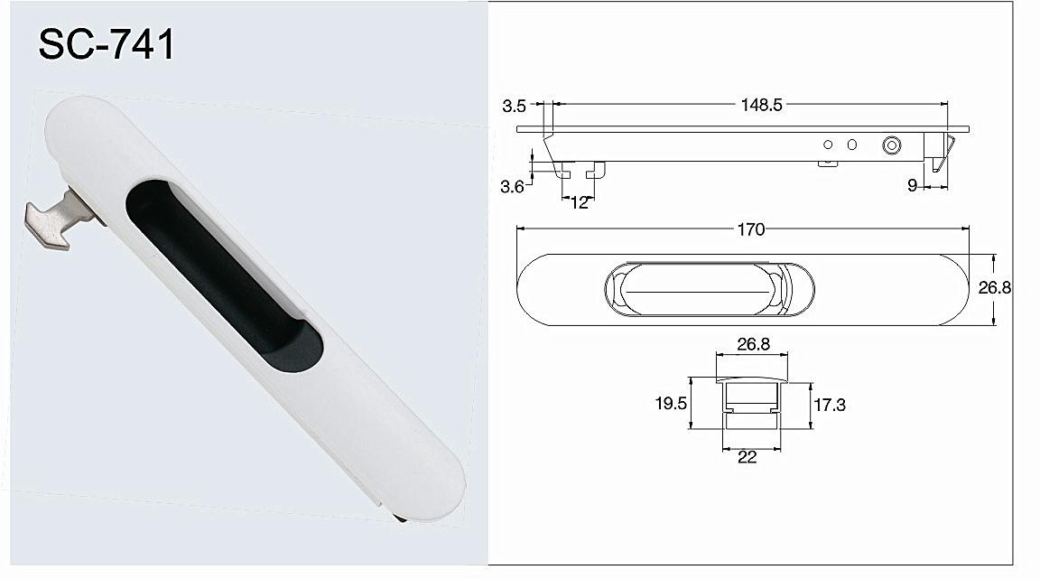 Aluminium Sliding Lock for Windows and Doors (SC-741)