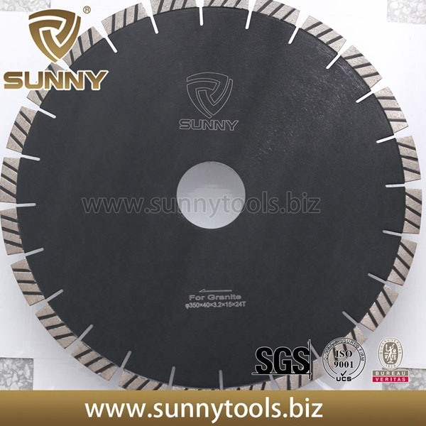 High Quality W Shape Segments 350mm Diamond Saw Blades for Granite
