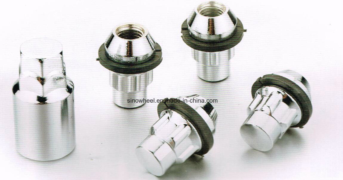 Bulge Chrome Lock Nuts 1/2 Lug Nuts Wheel Nuts